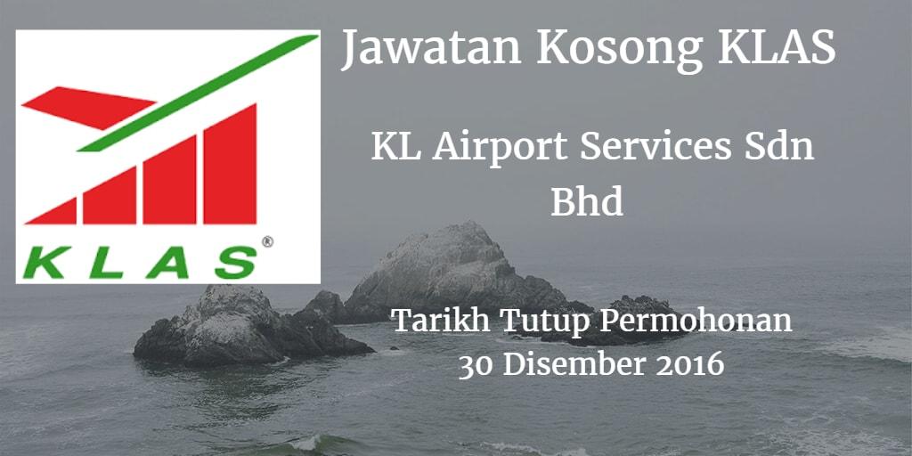 Jawatan Kosong bKL Airport Services Sdn Bhd 30 Disember 2016