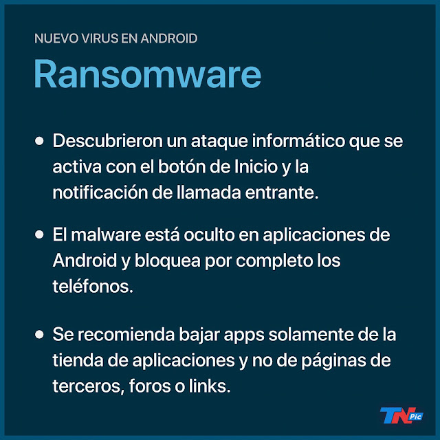 Alerta por un ransomware en Android que se activa al apretar el botón de Inicio