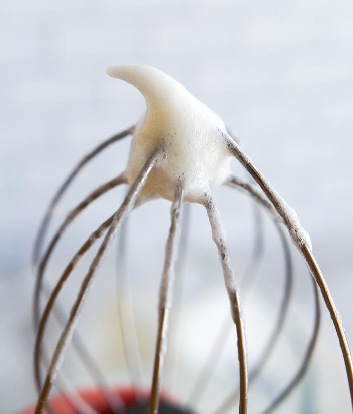 egg whites soft peak