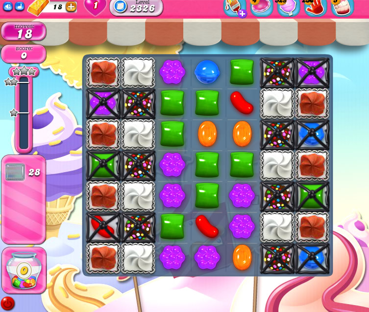 Candy Crush Saga level 2326