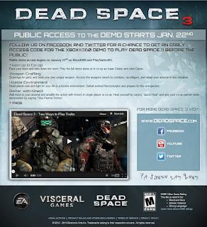 deadspace 3 demo