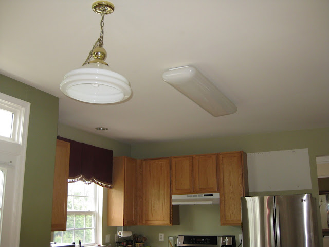 fluorescent light in kitchen