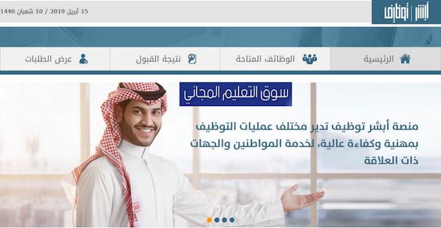 موقع أبشر للتوظيف رابط التقديم في وظائف حكومية ووظائف عسكريه