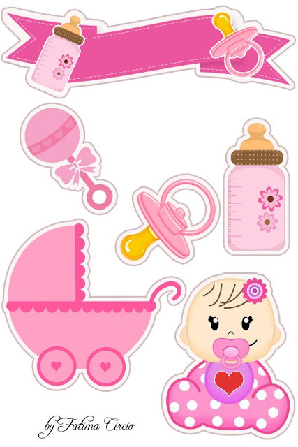 Cute Baby Girl Free Printable Cake Toppers.