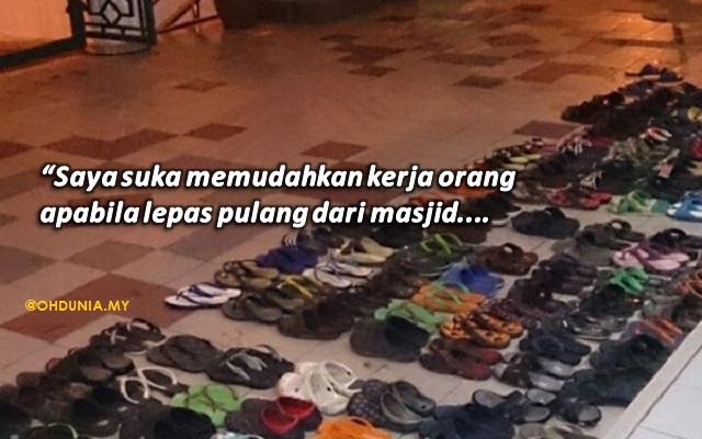 Inilah Insan Misteri Yang Rajin Menyusun Selipar Jemaah Di Masjid