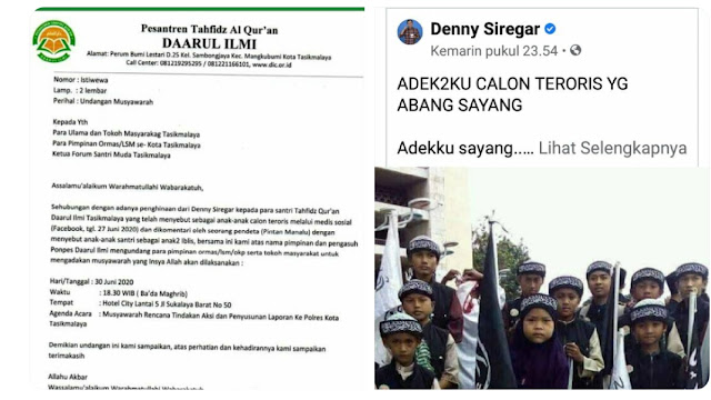 Tuduh Santri Calon Teroris, Pimpinan Ponpes Daarul Ilmi Tuntut Denny Siregar Dipenjarakan