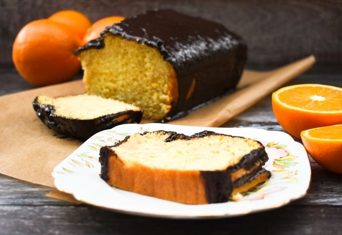 Vegan Jaffa Orange Loaf Cake