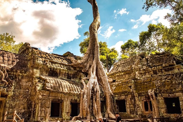 A temple with the age of over 800 years in Cambodia