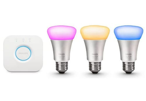 Philips Hue White and Color Ambiance A19 60W Equivalent Smart Bulb