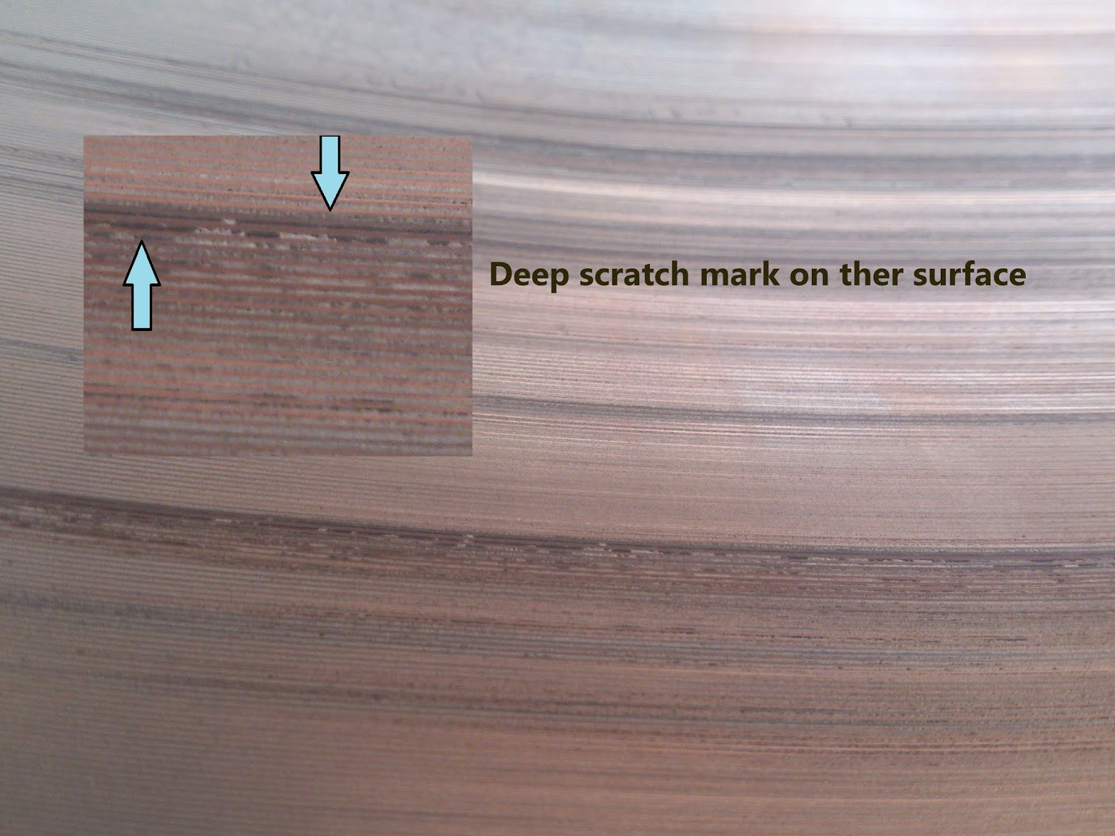 deep scratch mark on the connection rod bearing surface