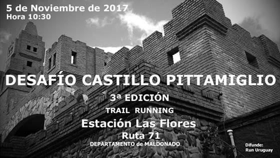 16k y 8k Desafío Castillo Pittamiglio (trail en Las Flores - Maldonado, 05/nov/2017)