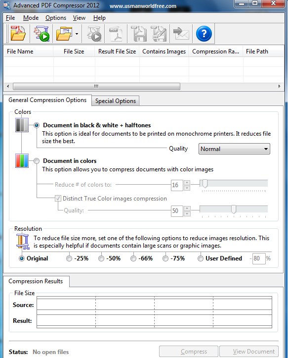 Advanced Pdf Compressor 2012