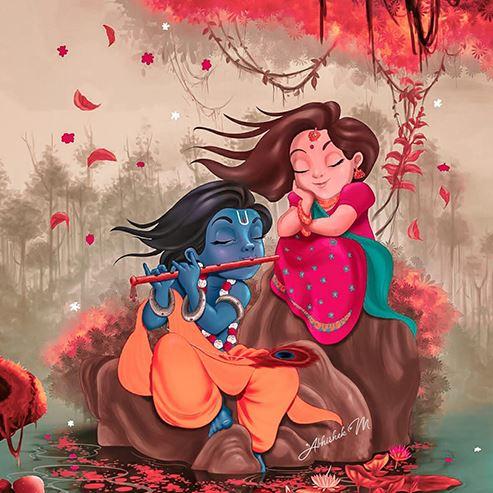 cute radha krishna picture pic