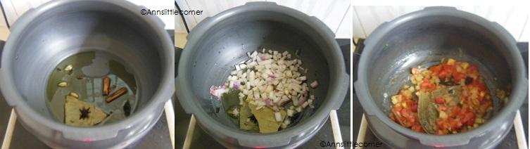 How to make Vegatable Biryani- Step 1