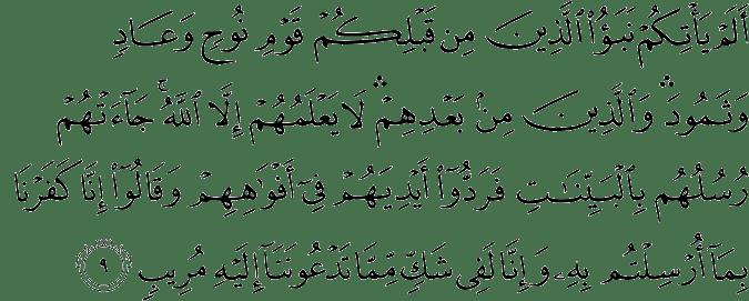 Surat Ibrahim Ayat 9