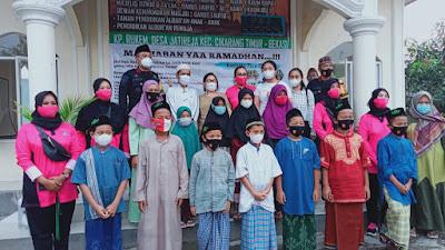 Batalyon D Pelopor Satbrimob Polda Metro Jaya Safari Ramadhan ke Ponpes Binaan SMSI Bekasi Raya