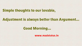 latest good morning status for girlfriend in english