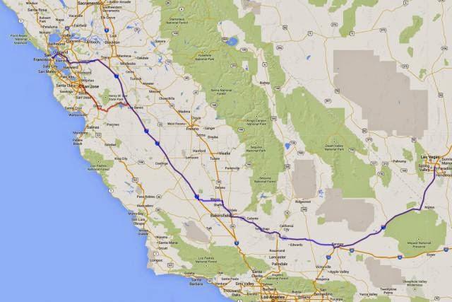 Como ir de San Francisco a Las Vegas de carro