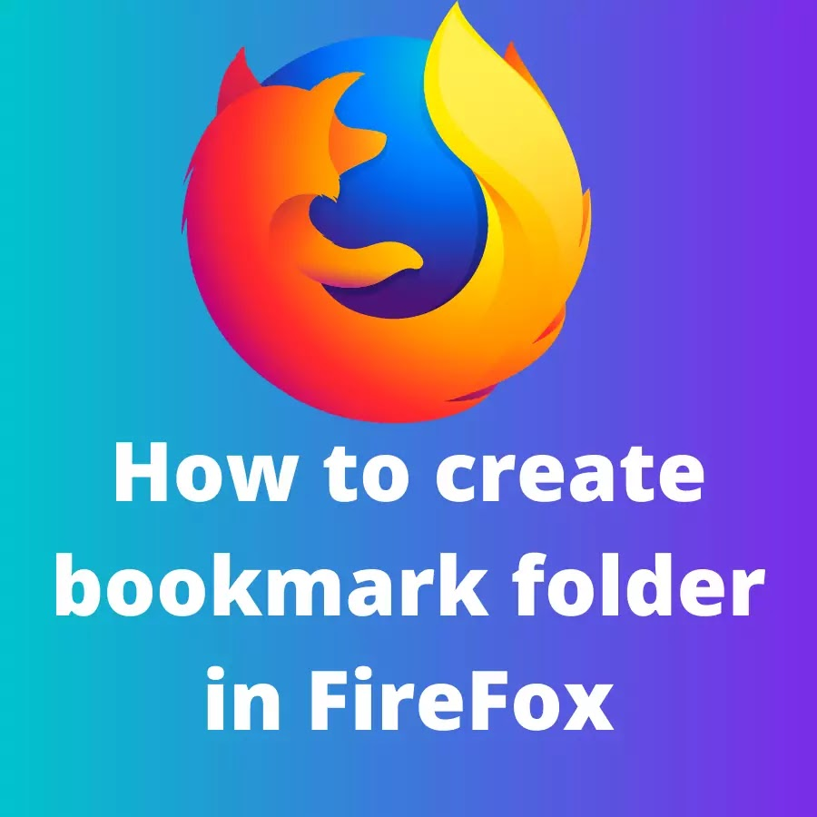 How to create bookmark folder in Firefox