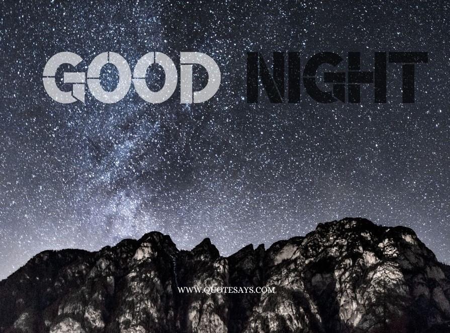 Good Night White Sky with stars