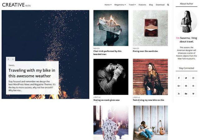 Creative Blog Blogger Theme