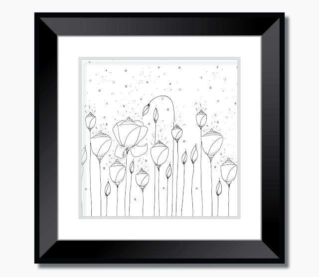 Light Flower Doodle Art