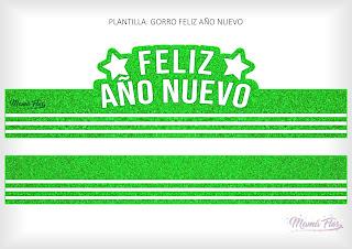 Gorro Feliz Año Nuevo Verde