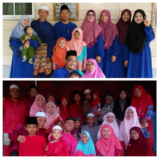 Tema+baju+raya+pilihan+Biru+Blue+colour+Merah+Red+colour