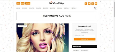 New Blog Template Blogger Responsive