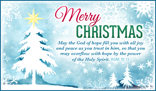 Merry Christmas Bible Verses Holiday eCard