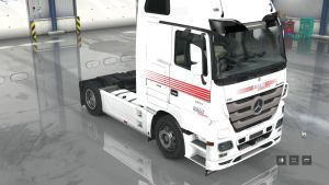Ralu Logistika White skin for Mercedes Actros 2009
