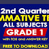 GRADE 1 (2nd Quarter Summative Tests) All Subjects with TOS