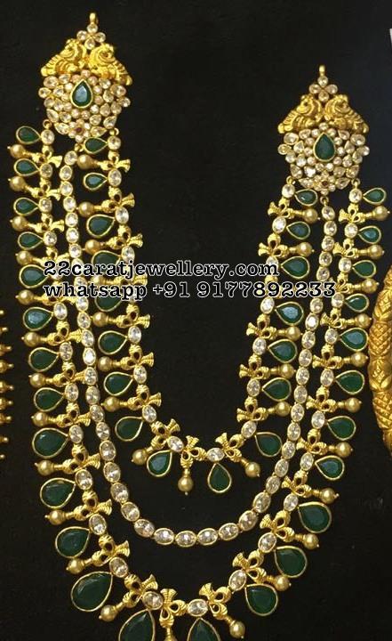 3 Layer Grand Emerald Set in Silver