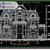مخطط مشروع فيلا فاخرة من الطراز الاوروبي القديم كاملا اوتوكاد dwg