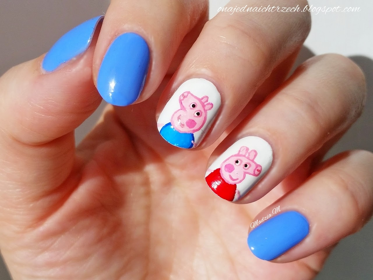 My nails blog: Peppa Pig Icon Nails