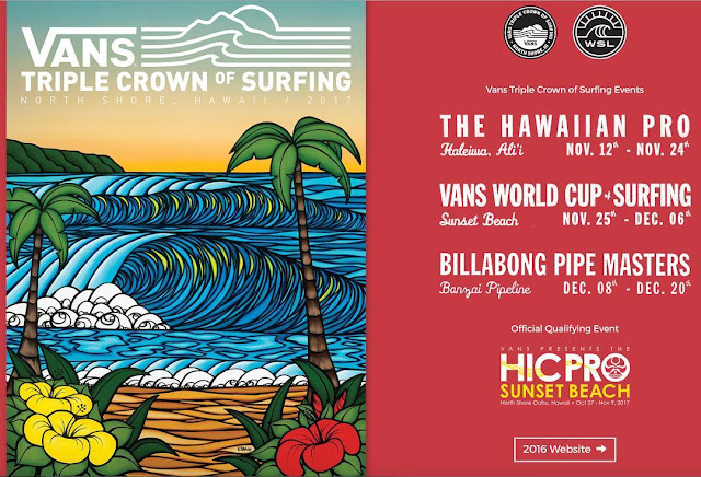 vans picks godmother of modern surf art heather brown for 2017 triple crown poster surf art