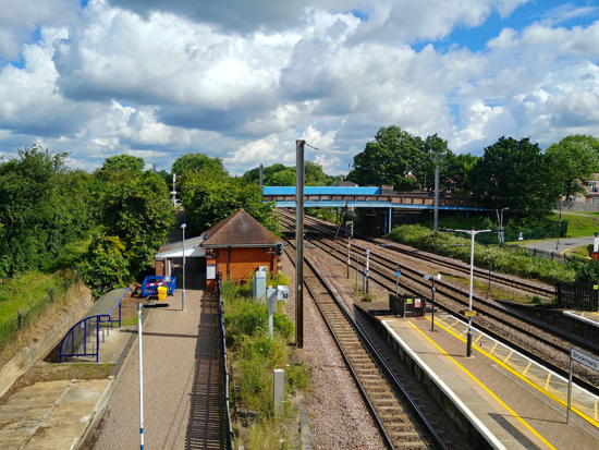 Brookmans Park station June 2019 with contactless reader, not Oyster, being installed  Image by North Mymms News released under Creative Commons BY-NC-SA 4.0