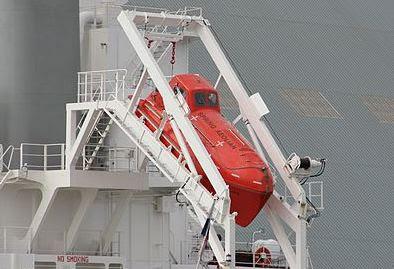 Freefall life boat di kapal