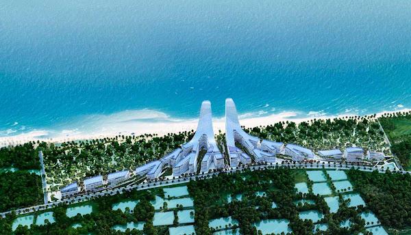 phối cảnh dự án Charm Hồ Tràm Resort