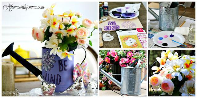 diy, craft, simple, homemaker, watering, can, garden