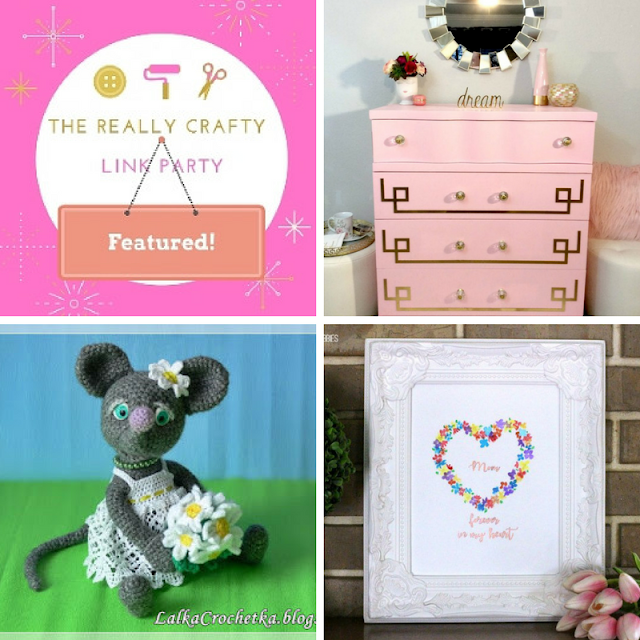 The Really Crafty Link Party #68 featured posts!
