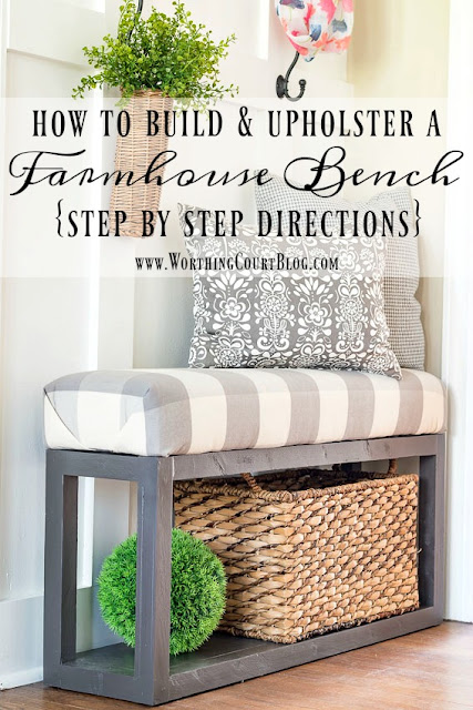 how to build easy farmhouse bench