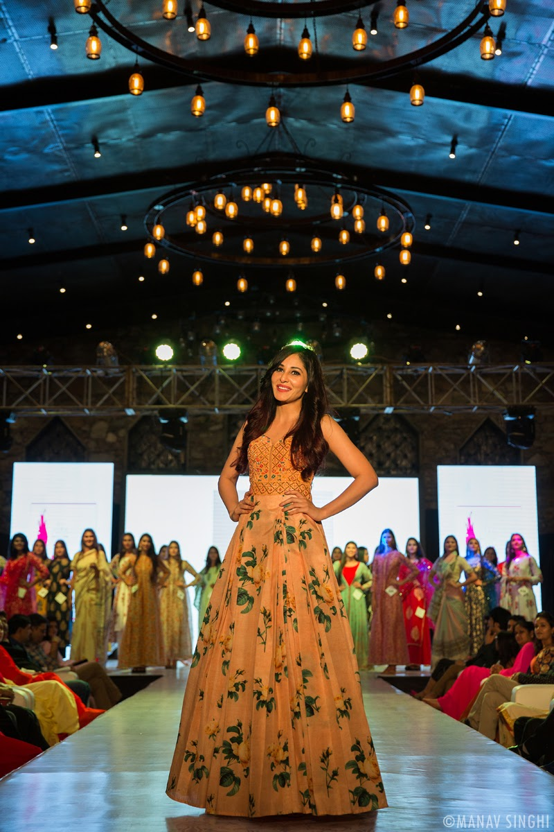 Pooja Chopra Bollywood Actor The Celebrity Judge at the Elite Miss Rajasthan 2018.