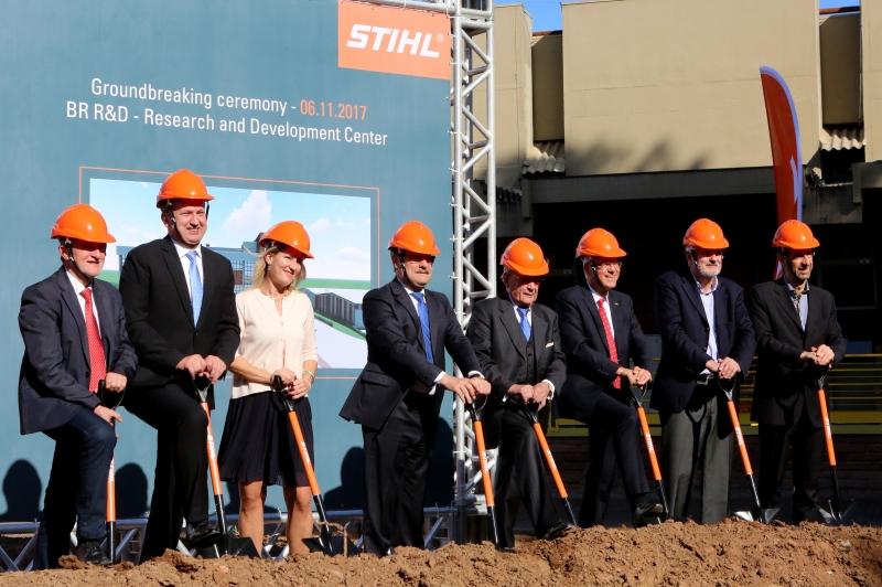 A STIHL começou as obras do novo Centro de Pesquisa e Desenvolvimento, na fábrica em São Leopoldo - Foto: Luiz Chaves/Palácio Piratini
