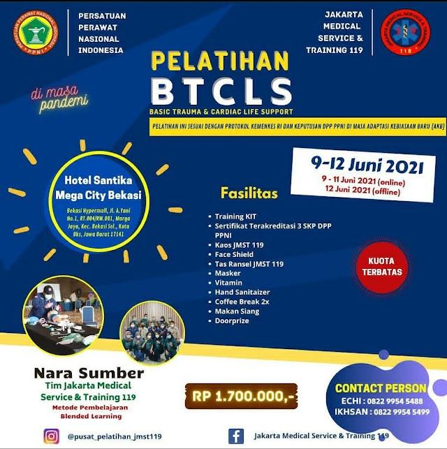 (3 SKP DPP PPNI) Pelatihan BTCLS Lokasi Bekasi