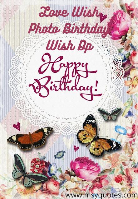 Love Wish Photo Birthday Wish Dp