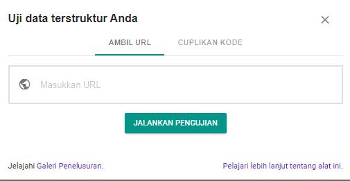 Halaman validasi Google data terstruktur