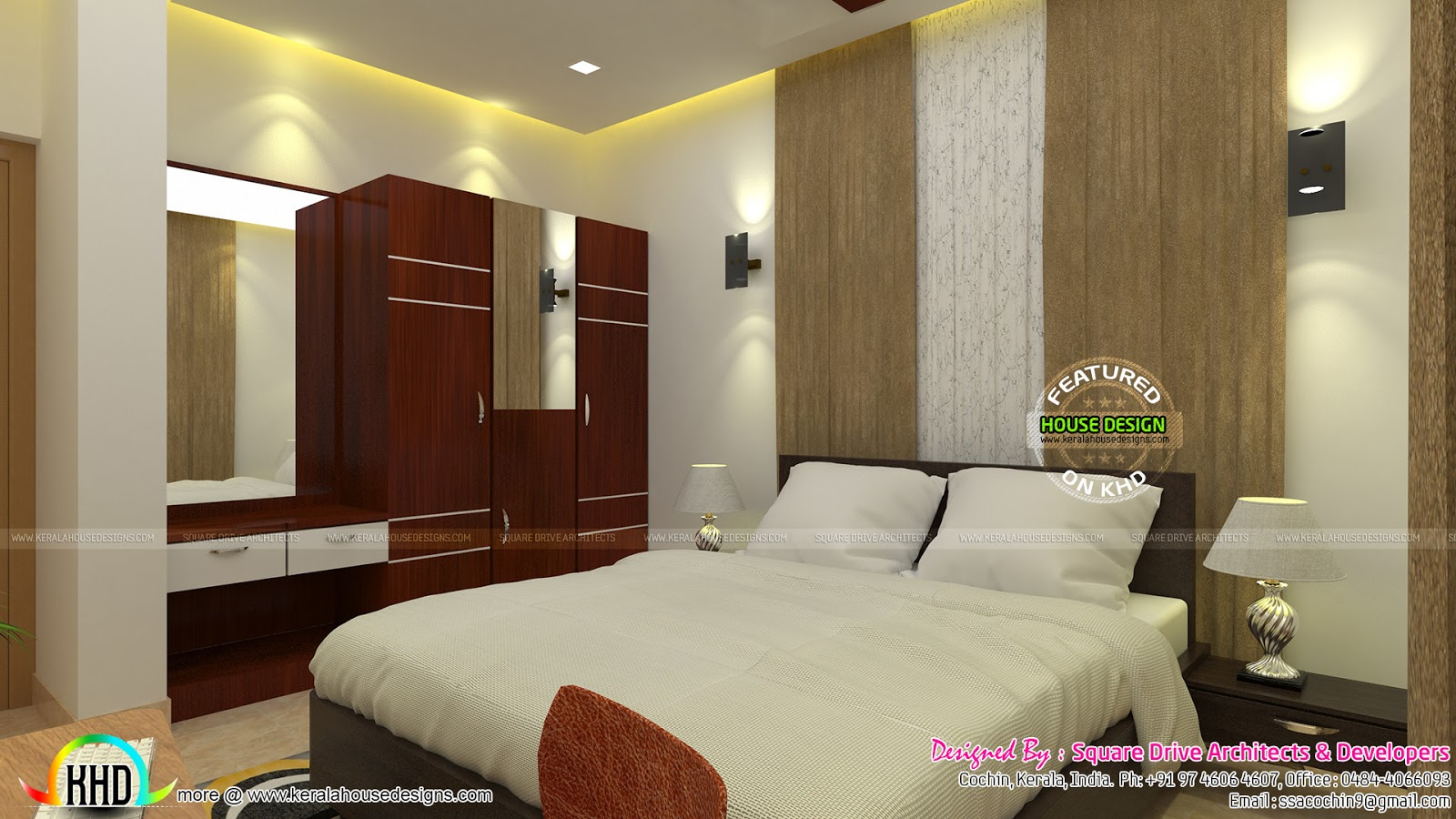 Elegant Interiors Of Living And Bedroom Kerala Home Design And Floor Plans