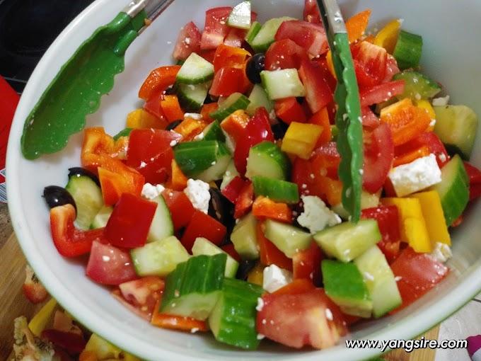 Greek Salad With Balsamic Vinegar Easy Recipe