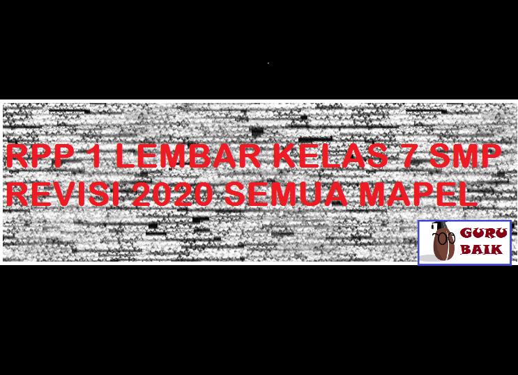 rpp smp kelas 7 revisi 2020